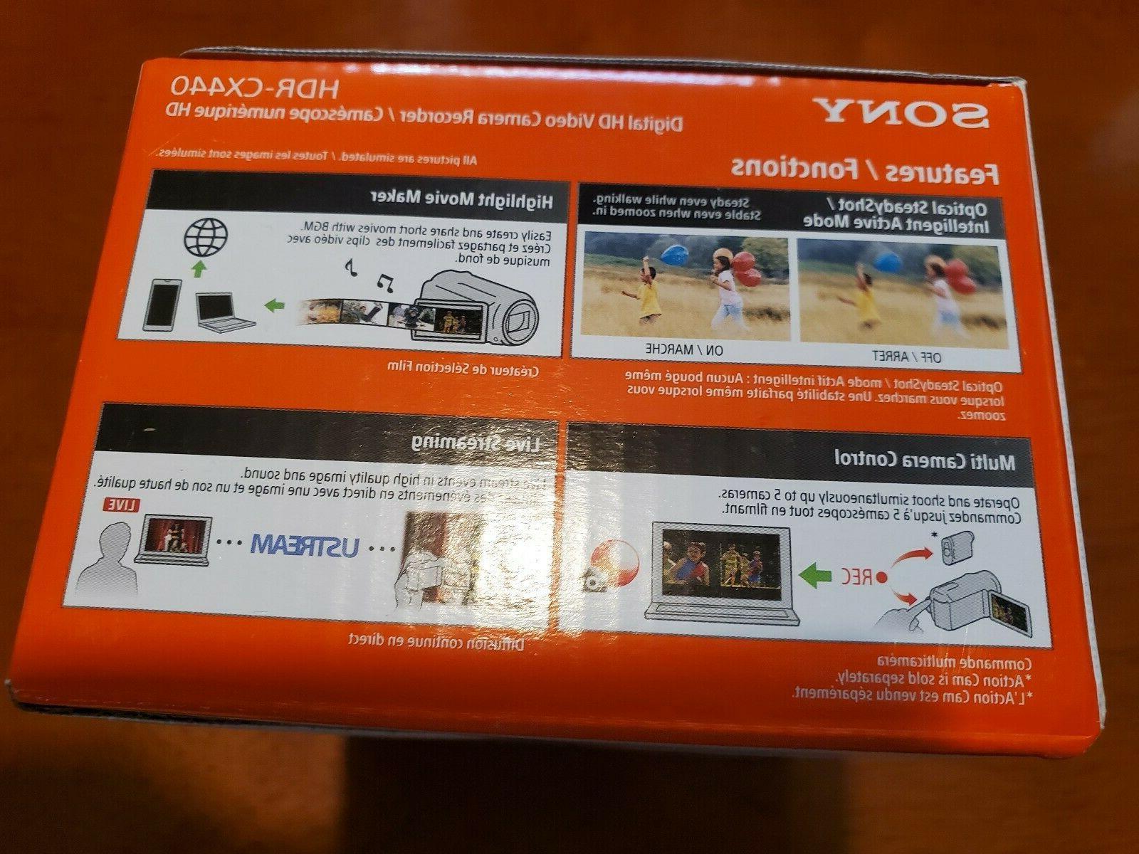 NEW! Handycam 1080p HD Internal Memory Camcorder