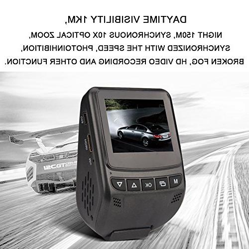 PowerLead Pdvr inch Full 1080P Car DVR Driving Vision Vehicle
