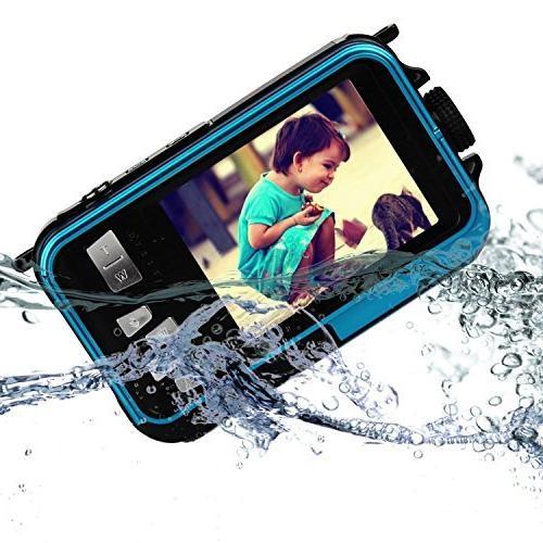 PowerLead Waterproof Digital 2.7-Inch Front LCD Easy Shot
