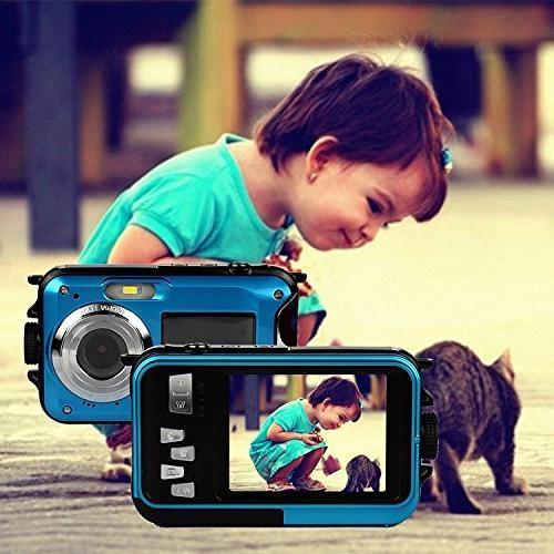 PowerLead Waterproof Digital Camera Front LCD Shot Camera