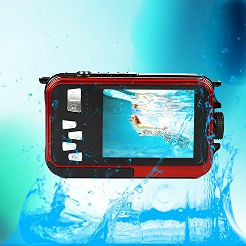 PowerLead PLDH21 Waterproof Digital Front Easy Self Shot Camera