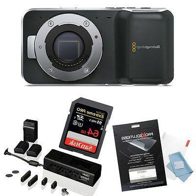 Blackmagic Pocket Camera w/ 64GB PocketBase Kit,