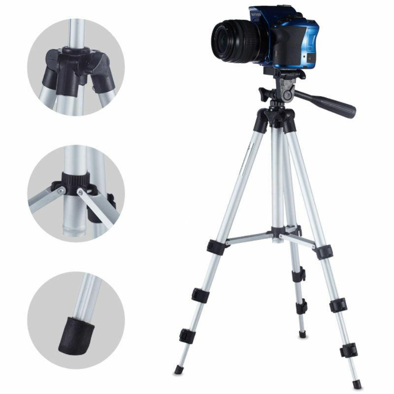 Portable Professional Camera Tripod Stand+Cell Holder+Bag
