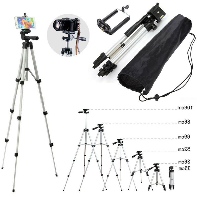 Portable Camera Tripod Stand+Cell Mount Holder+Bag
