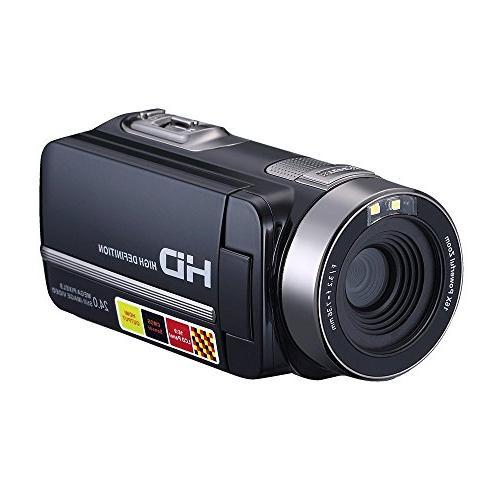 "PowerLead PLD009 2.7"" LCD Digital Camcorder 24MP Camera HD"