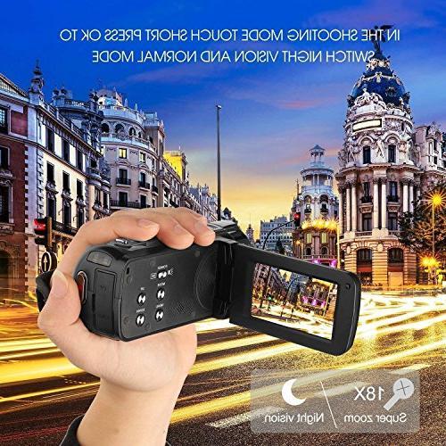 PowerLead LCD Screen Digital Video Camcorder 24MP Digital GordVE 2.7