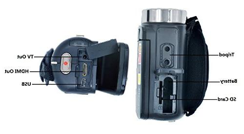 PowerLead LCD Screen Video Camcorder Night Camera HD