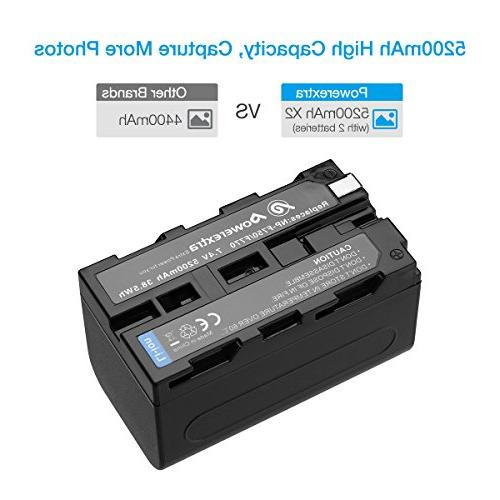 Powerextra Sony Battery for Sony NP-F770 Battery and Sony CCD-TRV215 HDR-FX1000 HDR-FX7 HVR-V1U Camcorder