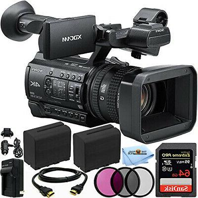 Sony PXW-Z150 4K XDCAM Camcorder + 64GB + EXT BATT + Filter
