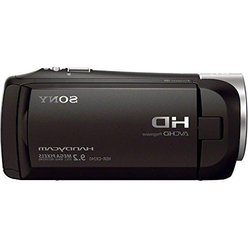 Sony HDRCX405 Recording Handycam with 32GB Memory Travel Spare Battery Charger Cable More