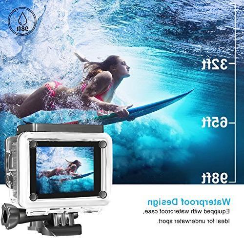 AIMTOM TL-9 Camera, 16MP Camera Waterproof A+ Super WIFI Remote Double Screen Portable Sports