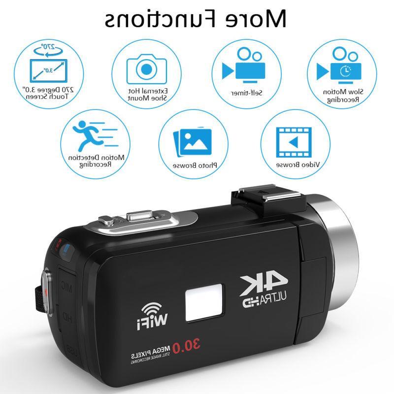 WiFi 48MP Digital Camera Camcorder