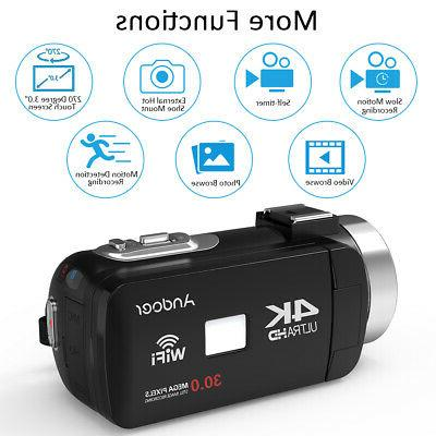 Andoer WiFi Camcorder DV Recorder Microphone
