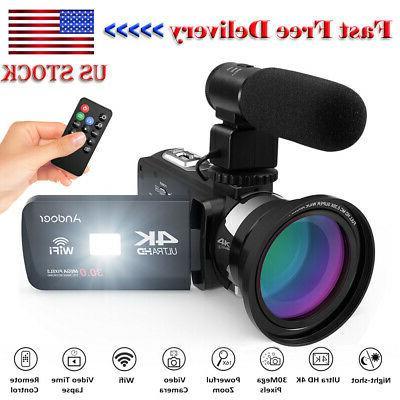 4k ultra hd wifi digital video camera