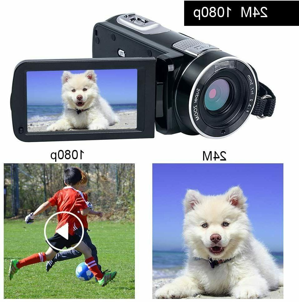 """Video 24.0MP 3"""" LCD Screen 18X Zoom Vision"""