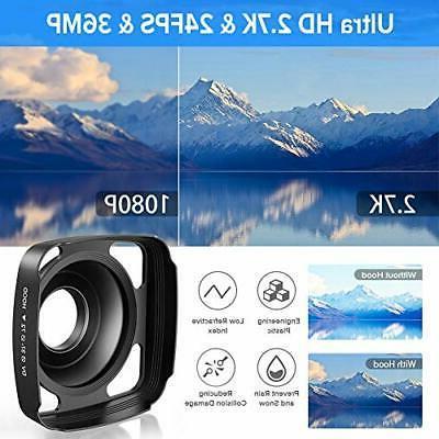 Video Camera Ultra HD Camera 36MP Night Visio