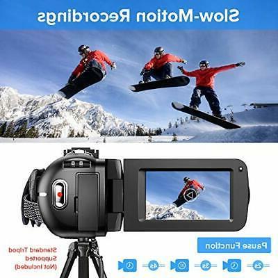Video Camera Camcorder Ultra YouTube Camera 36MP Visio