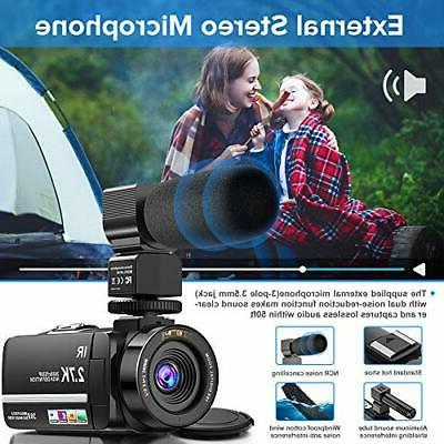 Video Camera Camcorder 2.7K Ultra Camera Night