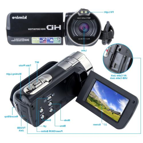Video Digital Vlogging 1080P 24 MP