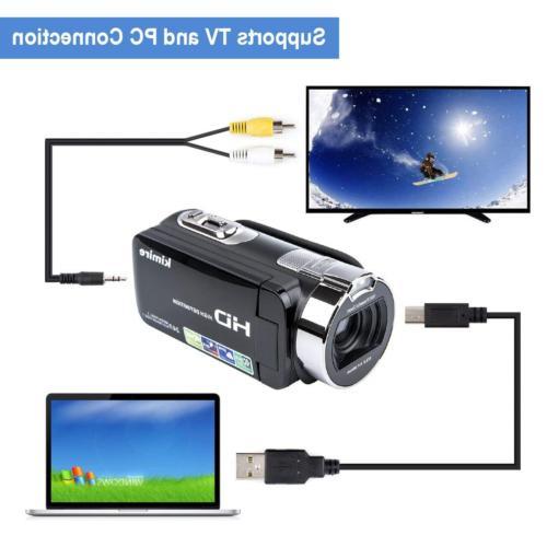 Video Camera Vlogging Camera Recorder,Kimire 1080P MP
