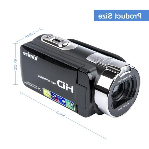 Video Camera Camcorder Digital Vlogging Recorder,Kimire HD 1080P 24