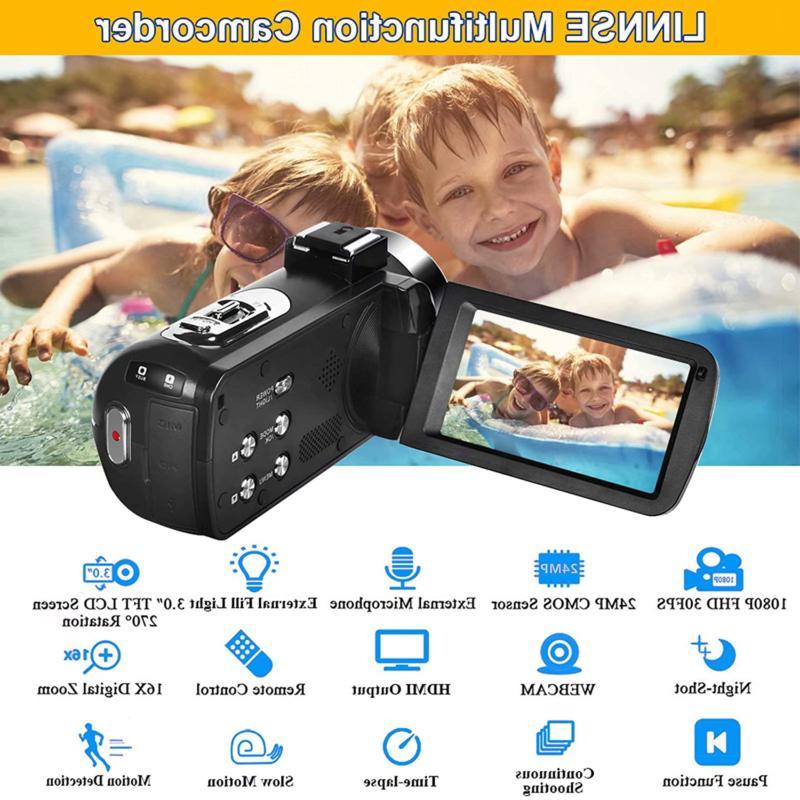 Video Camera Camcorder Full Hd Mp Night Vision Vlogging Came