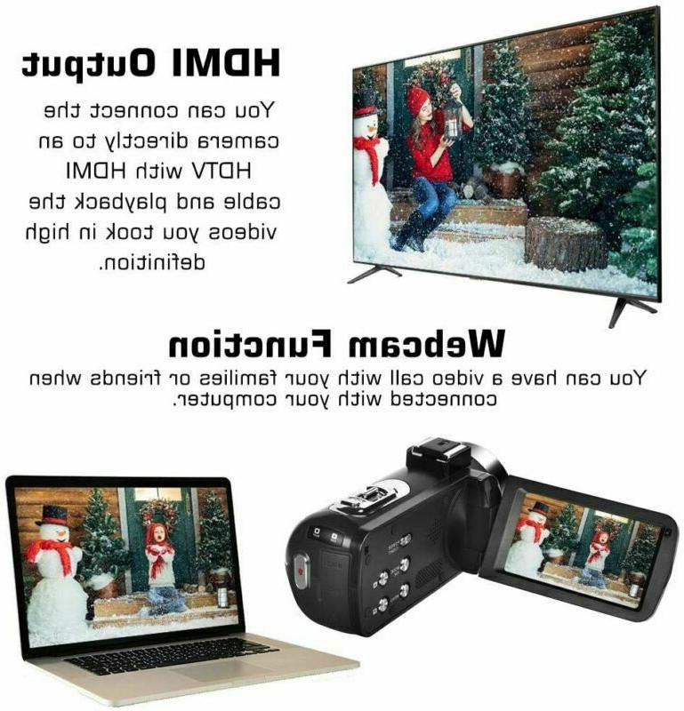 Video Camera Camera Full Hd 30Fps 3'' Lcd Touch Screen