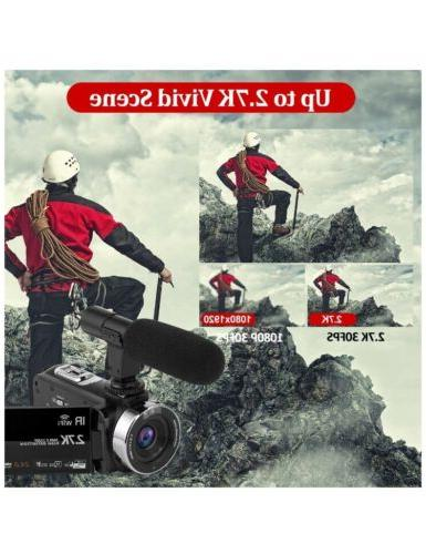 Video Camcorder with Microphone WIFI,