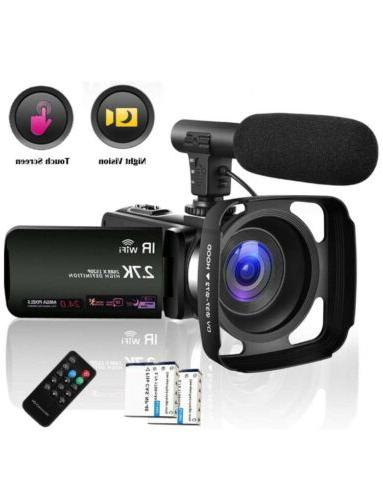 video camera camcorder with microphone 2 7k