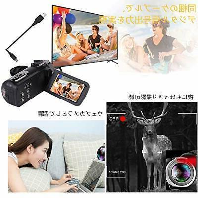 Video camera digital camera 2.7K 30MP 16 zoom