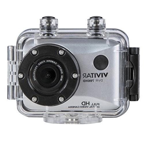 Vivitar DVR786HD 1080p Waterproof Camcorder Silver Accessories