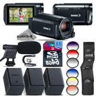 Canon VIXIA HF R800 Black Camcorder + 2 Extra Battery + Shot