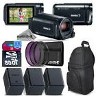 Canon VIXIA HF R800 57x Camcorder + 2 Extra Battery + Backpa