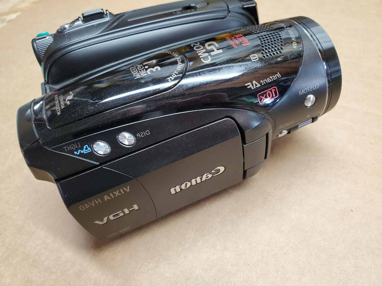vixia hv40 camcorder excellent condition