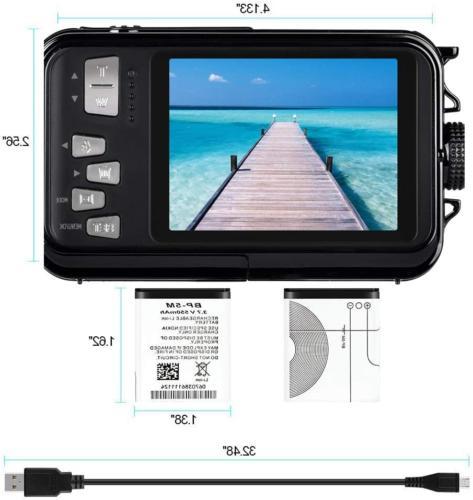 Waterproof Underwater Camera for Snorkeling Full HD 1080P 24.0 MP