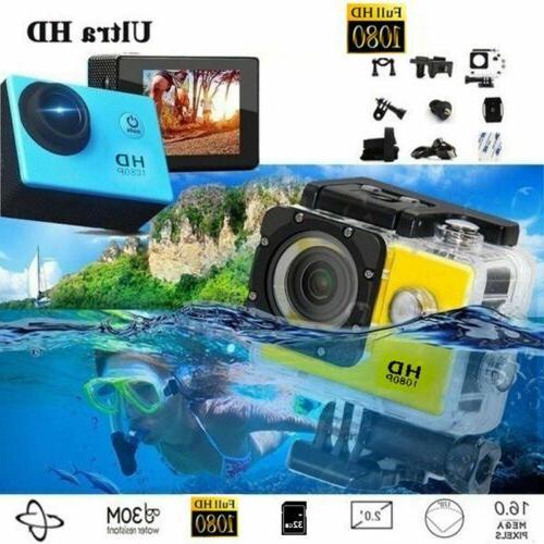 USA HD 1080P 12MP Sport Video Camera Action Camcorder Cam DV