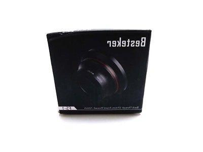 Besteker Wide Angle Lens, 72MM 0.39x Professional HD Camera