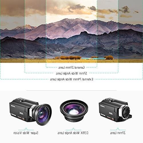 Full Wide Macro Andoer Digital Camera Camcorder