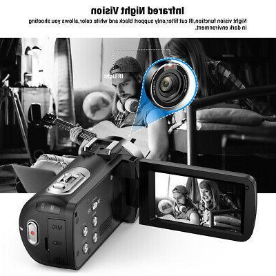 "WiFi Video Camera Camcorder 24MP 3.0"""