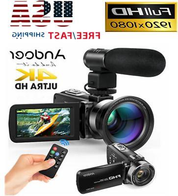 wifi 4k fhd digital video camera camcorder