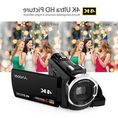 WiFi 48MP Camera Camcorder DV+ Lens