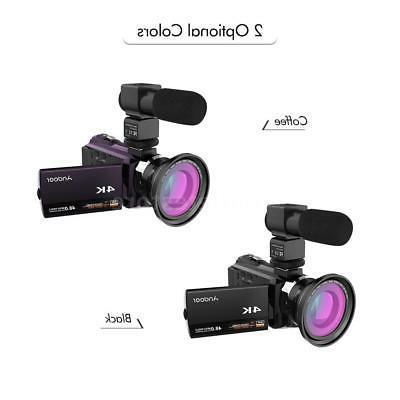 WiFi 4K 48MP 1080P Video Camera Recorder Camcorder