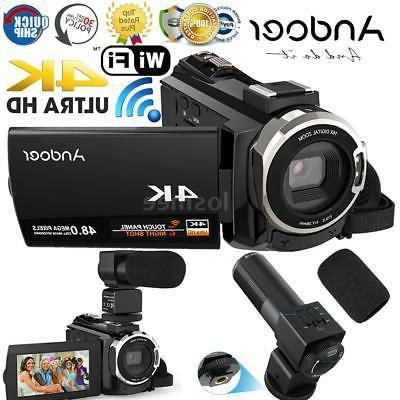 "WiFi 4K HD 1080P 48MP 3"" Digital Camcorder Video DV Camera w"