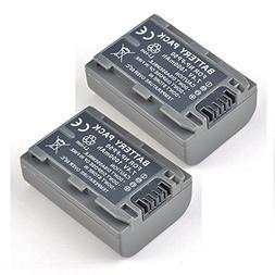2 Pack Li-ion Battery for Sony Handycam NP-FP50 NP-FP51 DCR-