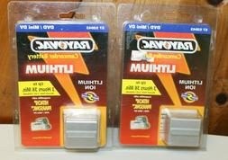 Lot of 2 ~ Rayovac Lithium Ion Camcorder Battery ~ 52043 ~ H