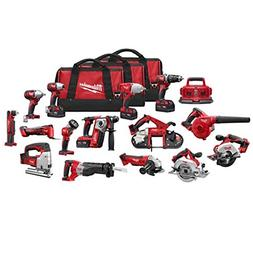 Milwaukee 2695-15 M18 Combo 15 tool Kit W/4 Xc Bat