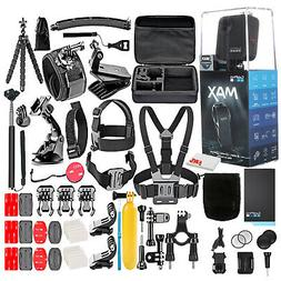 GoPro MAX 360 Waterproof Action Camera --With 50 Piece Acces