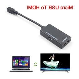 Micro USB to HDMI TV Adapter Short Cable for LG/HTC/Sony/Sam