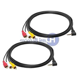FYL 2x 3.5mm Mini AV to 3 RCA Male Adapter Audio Video Camco