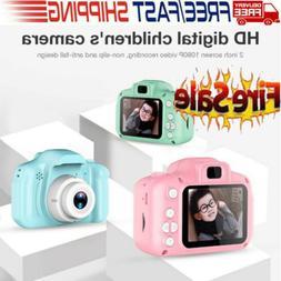 Mini Cute Digital Camera 2.0'' Kids 1080P Children Toys Vide